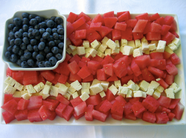 Fourth of July Fruit Flag