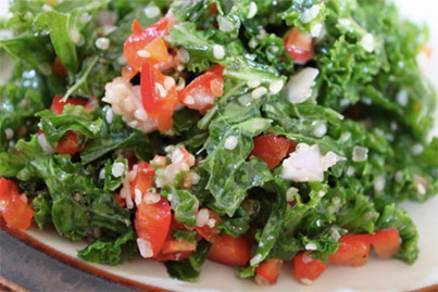 Lemon Hemp Kale Salad