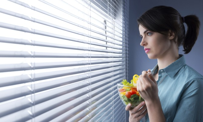 annoyed vegetarian