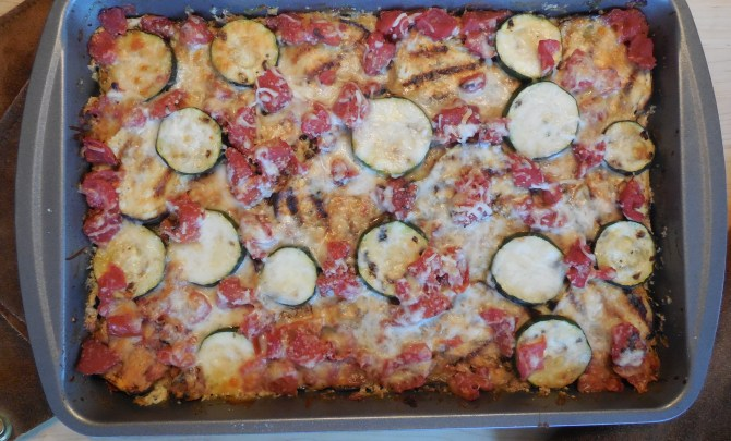 Grilled Eggplant and Zucchini Casserole with Mozzarella and Parmesan (2)