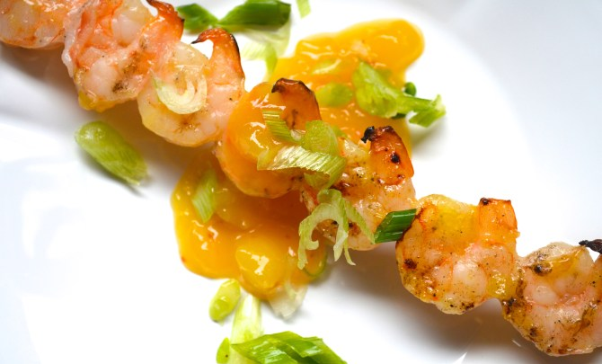 Fruit Glazed Shrimp