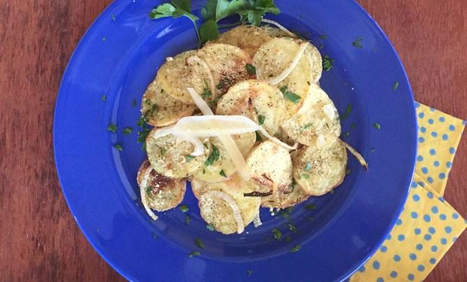 Truffled Yukon Gold Potatoes with Pecorino Romano