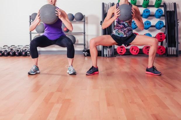 Medicine Ball Leg Workout
