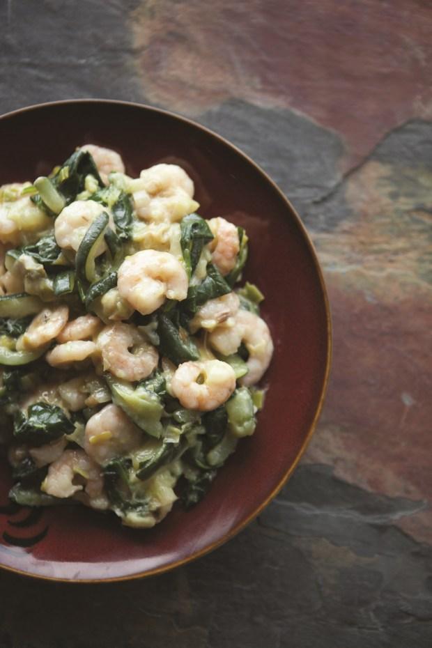 Paleo Creamy Shrimp with Vegetables // spryliving.com