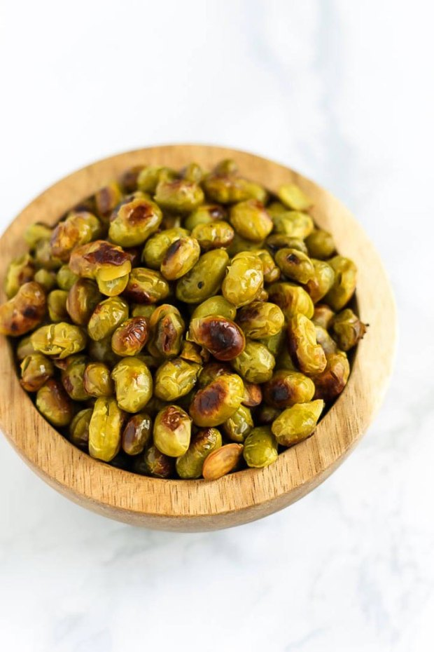 10 High-Protein Snacks for Busy Workdays | Salt and Vinegar Roasted Edamame
