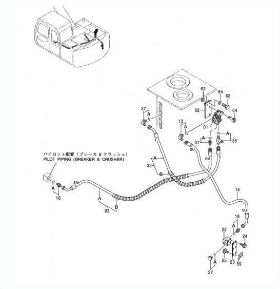 Elektrozawór blok solenoid Zexel CNH 71471892 Hitachi