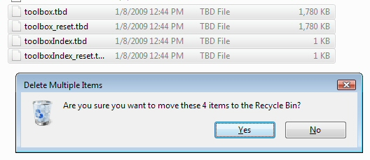 Delete Toolbox Files