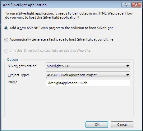 Create Silverlight 3 Application