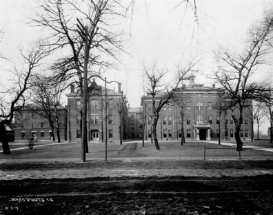 This photograph from Archives shows City Hospital in Indianapolis, which was known as Military Hospital during the Civil War.