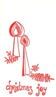 This Christmas card was sent by the General Administration during the 1960s.