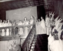 Angelic voices are uplifted in this 1944 photo at Ladywood School, Indianapolis.