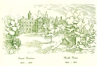 This Chritmas card was sent by the General Administration in 1984.