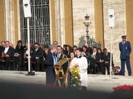 Sister Nancy Reynolds speaks during the service.