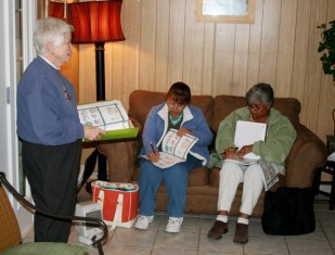 Sister Carol Nolan, SP, director and founder of Providence in the Desert, brings English language instruction to needy residents of Coachella, California.