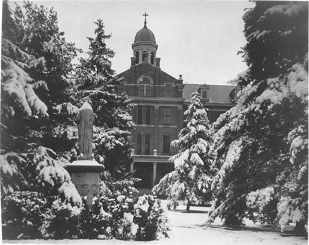 1962: Providence Hall in the winter.