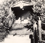 1947: Outdoor Christmas Crib, outside the double doors at north entrance to Church.