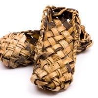 Ancient footwear made from the bark of trees and similar to the sandals worn around Jesus' time.