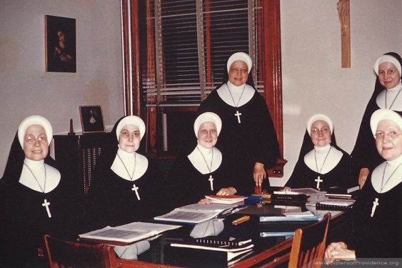 The General Council under General Superior Sister Rose Angela Horan, 1960-1966.
