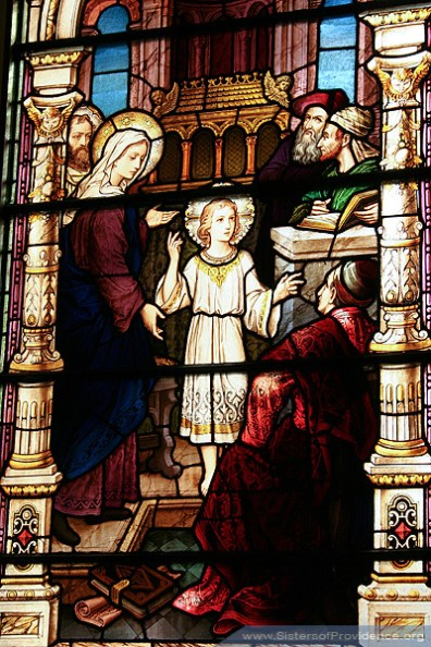 The Church of the Immaculate Conception is on the motherhouse grounds of the Sisters of Providence of Saint Mary-of-the-Woods, Indiana. Its beautiful stained glass windows were made by the Bavarian Art Institute of Munich, Germany.