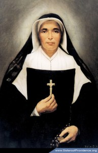 The official portrait of Saint Mother Theodore Guerin (Saint Theodora).