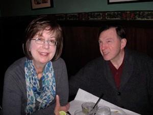 Author Peg Benson with her husband, Steve