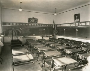 Room 201 at St. Joseph School before the fire.
