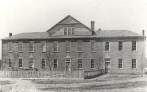 The original St. Joseph School in Jasper.