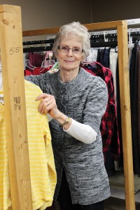 """One way Carole Stokes of West Terre Haute, a Providence Associate, lives out the mission of love, mercy and justice is in her volunteer work at The Helping Hands thrift store. She's been volunteering and helping on the board since 2007. """"I feel like I'm doing God's work. I see miracles happen every day here,"""" she said."""