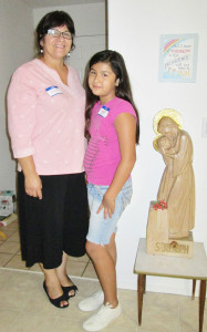 """Gloria and Monica, age 9, of Providence in the Desert, attended the July 31 """"Hidden women of the lectionary"""" gathering."""