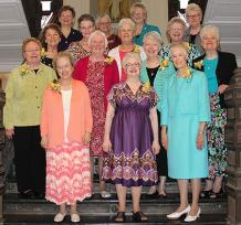 Sisters who celebrated 50-year and 25-year Jubilees recently included (front row, from left) Sister Carole Ann Fedders, Sister Loretta Picucci, Sister Connie Kramer, (second row) General Councilor Sister Mary Beth Klingel, Sister Joan Slobig, Sister Marsha Speth, Sister Rosemary Nudd, (third row) Sister Ann Sullivan, Sister Mary Ryan (25-year Jubilee), Sister Barbara Reder and Sister Mary Mundy. They were joined during the celebration by Sisters of Providence General Councilors (back row) Sister Dawn Tomaszewski, General Superior Sister Denise Wilkinson, Sister Jenny Howard and Sister Lisa Stallings, Vicar.
