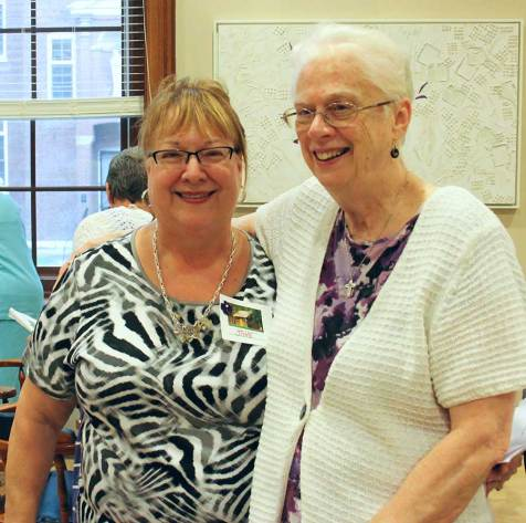 Sister Peggy Nau, right, has spent the year, has companioned Providence Associate Jane Fischer, left, over the past year. Jane will make her commitment as a Providence Associate on Nov. 8.