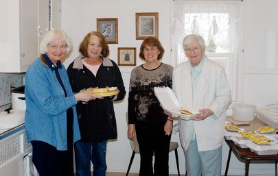 """Helping out with a """"drive and dine"""" lunch fundraiser for EFS in 2011 are, from left, Sister Charles Van Hoy, Penny Sullivan, Randi Everett and Sister Mary Pat Peacock."""