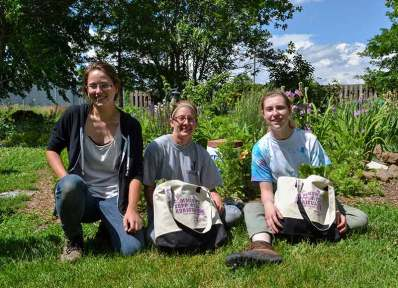 The interns are ready for CSA (Community Supported Agriculture) Day!