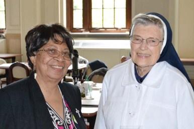 Sister Kathleen Bernadette Smith and Sister Marian Brady