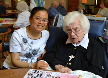 Sister Su-Hsin Huang and Sister Mary Terence Haag