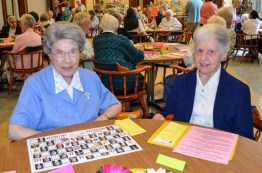 Sister Miriam Clare Stoll and Sister Kathryn Koressel