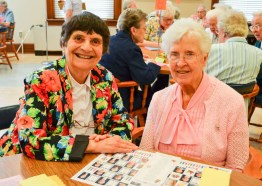 Sister Mary Lou Ruck and Sister Mary Pat Cummings