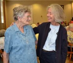 Sister Marceline Mattingly and Sister Rebecca Keller