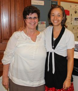 Sister Carol Kimes (left) has companioned Sister Tracey Horan for several years.