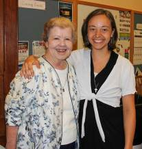 Sister Nancy Nolan, vocation office coordinator, and Sister Tracey Horan (right).