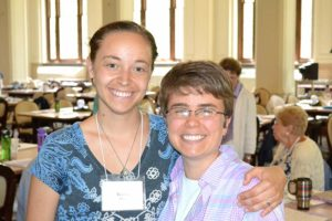 Sister Tracey Horan (left) and Sister Hannah Corbin recently attended the Giving Voice National Conference.