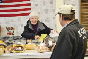 Sister Florence Norton volunteers at the Providence Food Pantry.