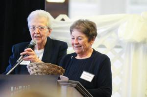 Sisters Ann Casper (left) and Ann Sullivan during the 2016 Women in Leadership Luncheon.