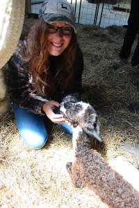 Cassie Hull's internship ends Saturday, so she is really excited a cria was born this week!
