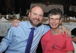Blog-post author Sister Mary Tomlinson with her son Mark at a recent wedding. (photo © Artlynn Photography)