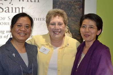 Sister Su-Hsin Huang (left), Sister Paula Damiano (center) and Sister Anna Fan. (photo by Jason Moon)