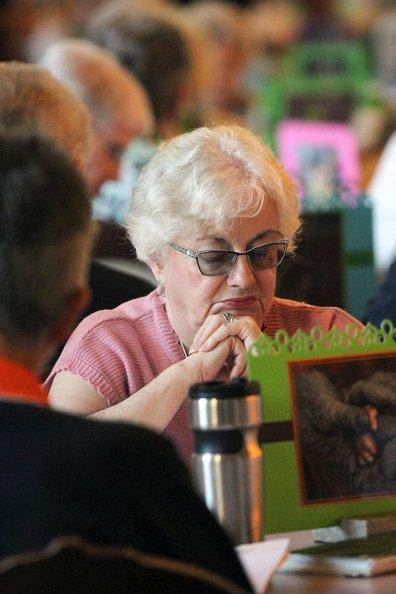 Sister Loretta Picucci during a prayer time. (photo by Amy Miranda)