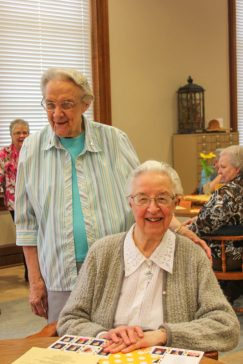 Sister Louise Schroeder and Sister Marie David Schroeder