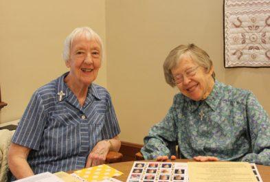 Sister Joan Matthews and Sister Francis Edwards