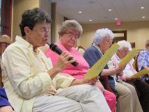 Sisters prayer during the blessing. From left, Sisters Paula Modaff, Kathleen Kelly, Mary Maxine Teipen.